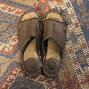 Margaritaville men's leather slide sandals 13